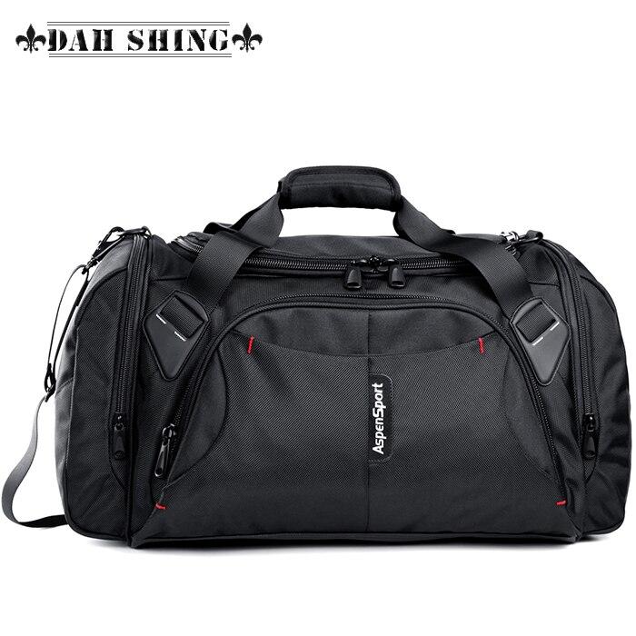 Large capacity portable durable waterproof nylon men travel bags shoulder luggage bag duffle bag handbag