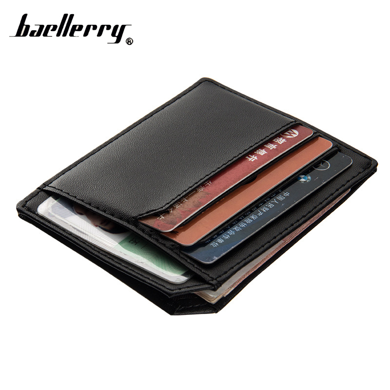 Baellerry Mini Thin Slim Business Card Holder Women Men Wallet Male Female Purse Small For Cuzdan Money Bag Walet Short Partmone baellerry thin leather wallet men mini wallet purse mens wallets luxury brand famous slim short money walet male small clutch