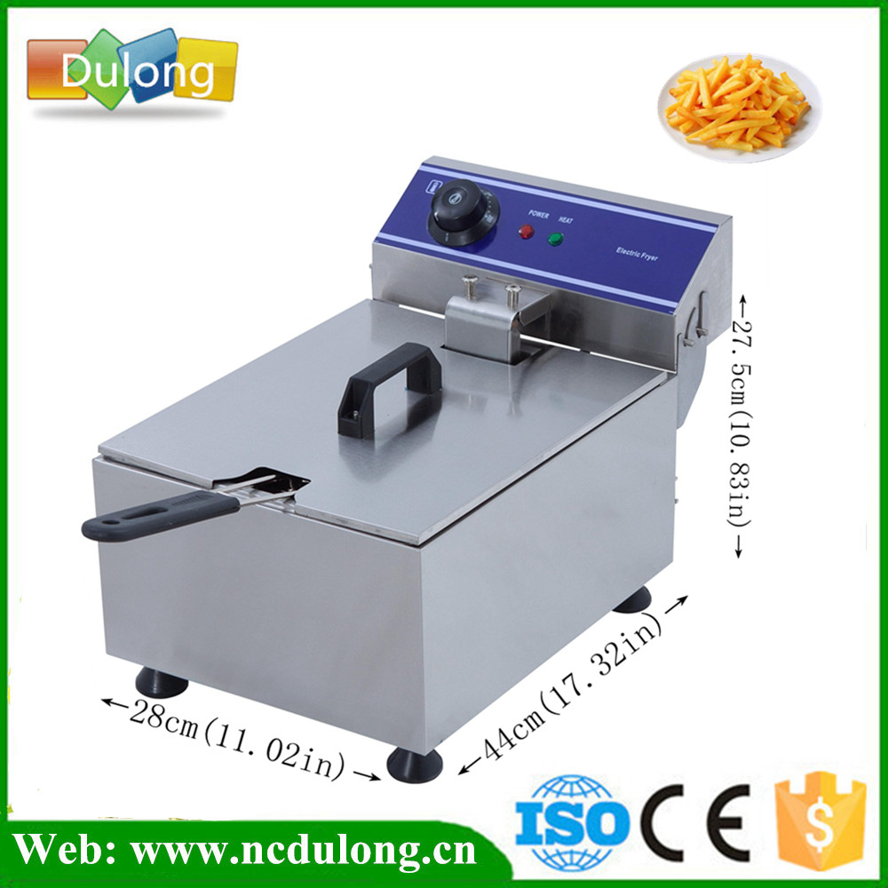 10L 3kw Electric Deep Fryer Multifunctional Household Commercial Stainless Steel Grill Frying Pan French Fries Machine 220v electric deep fryer 8l commercial air fryer potato chip french fries chicken fryer