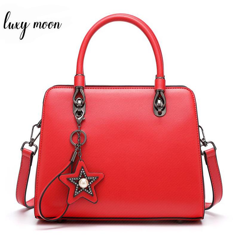 Fashion 2019 Leather Handbag For Women Black Red Female Shoulder Bag Cacual Totes Crossbody Bag bolsas feminina ZD1261