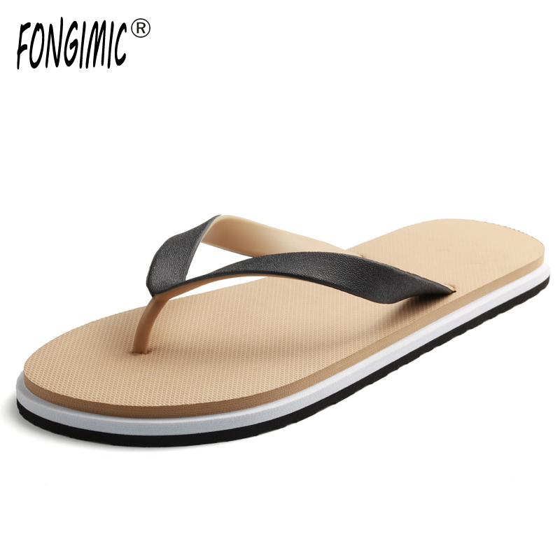 New Style Men Slippers Summer Comfortable Non Slip Personality Slippers Men Fashion Popular Casual Solid Colors Flat Flip Flops lanshulan bling glitters slippers 2017 summer flip flops platform shoes woman creepers slip on flats casual wedges gold