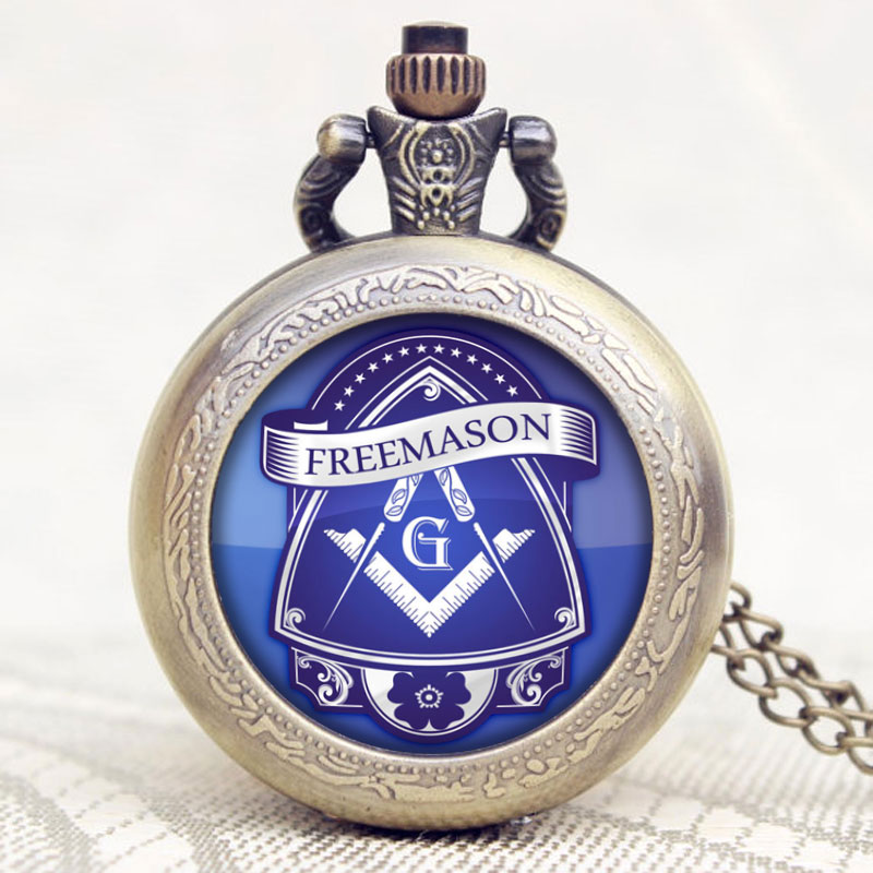 Classic New Arrival Masonic Freemason Pendant Theme Chain Pocket Watch Cosplay Men Gift P1197 2016 new arrival sailor moon theme pretty soldier design case bronze quartz pocket watch gift to children girls