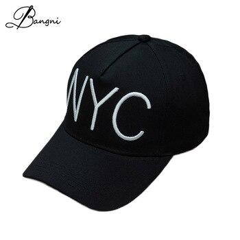 Black Cotton Letter NYC 3D Embroidery Solid Baseball Cap Snapback bone hats for women casquette Men Gorras Hip Hop Hat Pink Caps bone para bordar