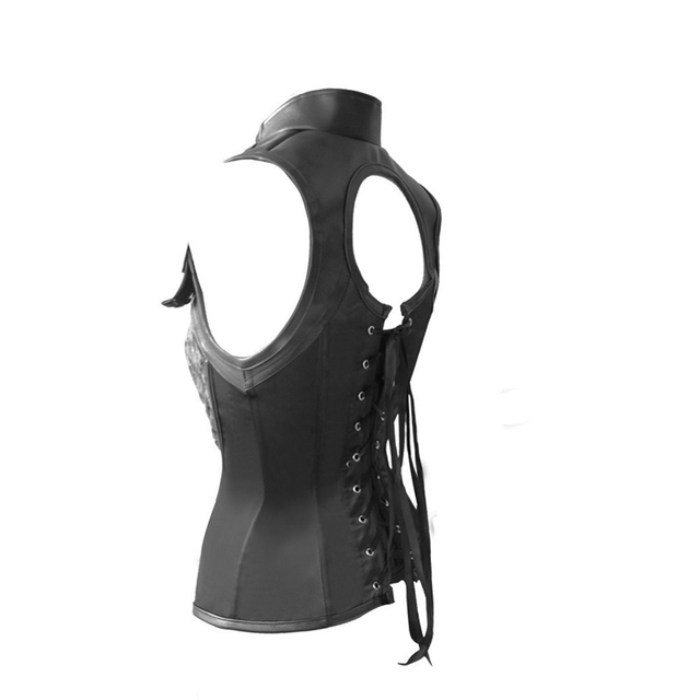 Sexy Women Leather Corset Steel Boned Waist Trainer Steampunk Corset Sexy Lingerie  Gothic Clothing Corpete Corsages