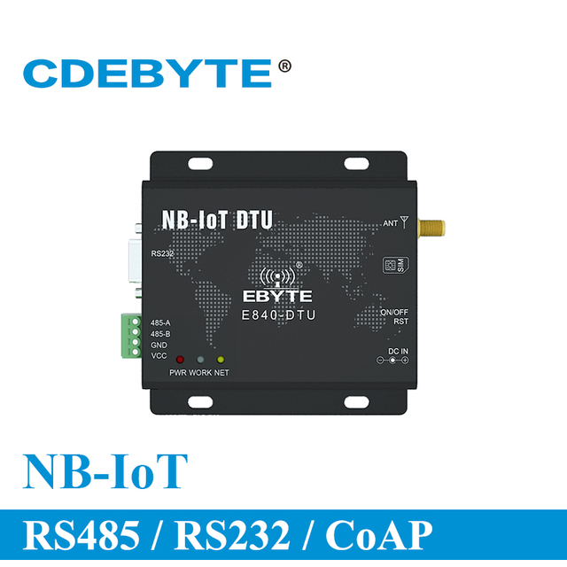 NB IoT Wireless Transceiver RS232 RS485 RS232 RS485 868MHz E840 DTU(NB 02) SMA Connector AT Command RF Module