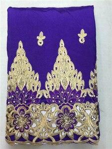 Image 2 - Lj16kоптовая продажа, Высококачественная африканская ткань George, желтая африканская кружевная ткань George для нигерийской свадьбы