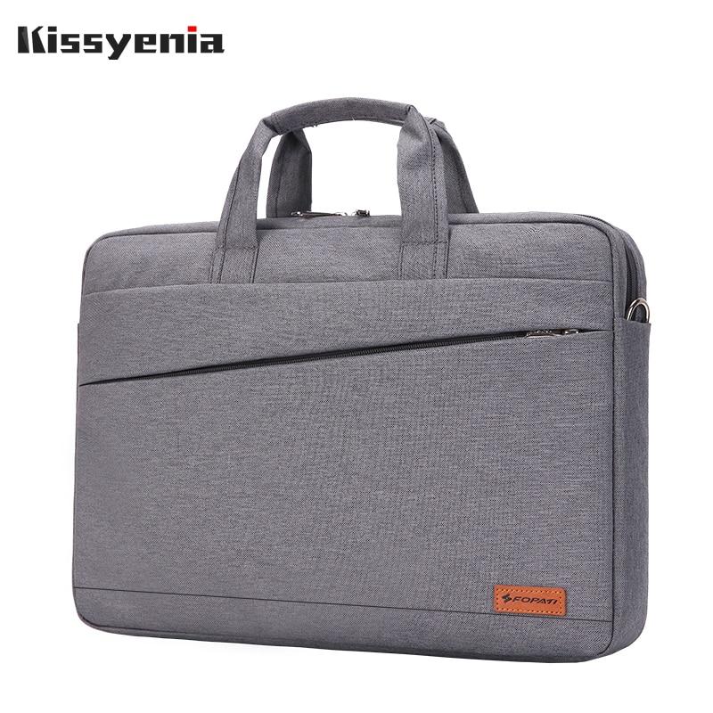 Kissyenia Waterproof Laptop Briefcase Men Women 13 14 15inch Computer Bag Business Travel Laptop Case Flight Shoulder Bag KS1251