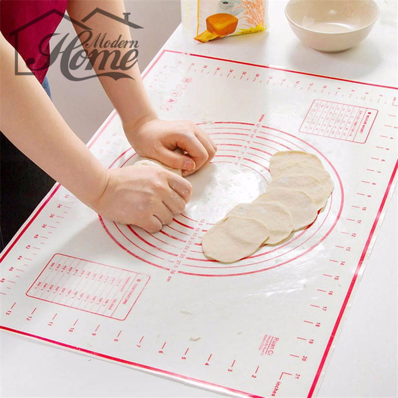 Non Stick Silicone Baking Mats Pad Baking Sheet Glass Liners Rolling Cutting Pizza Dough Fondant Cake Sugarcraft Tools 60*40CM