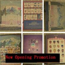 Pósteres Vintage The Grand buddage Hotel estético Poster pared decorativo pintura Bar Café pintura de pared del pasillo MO96