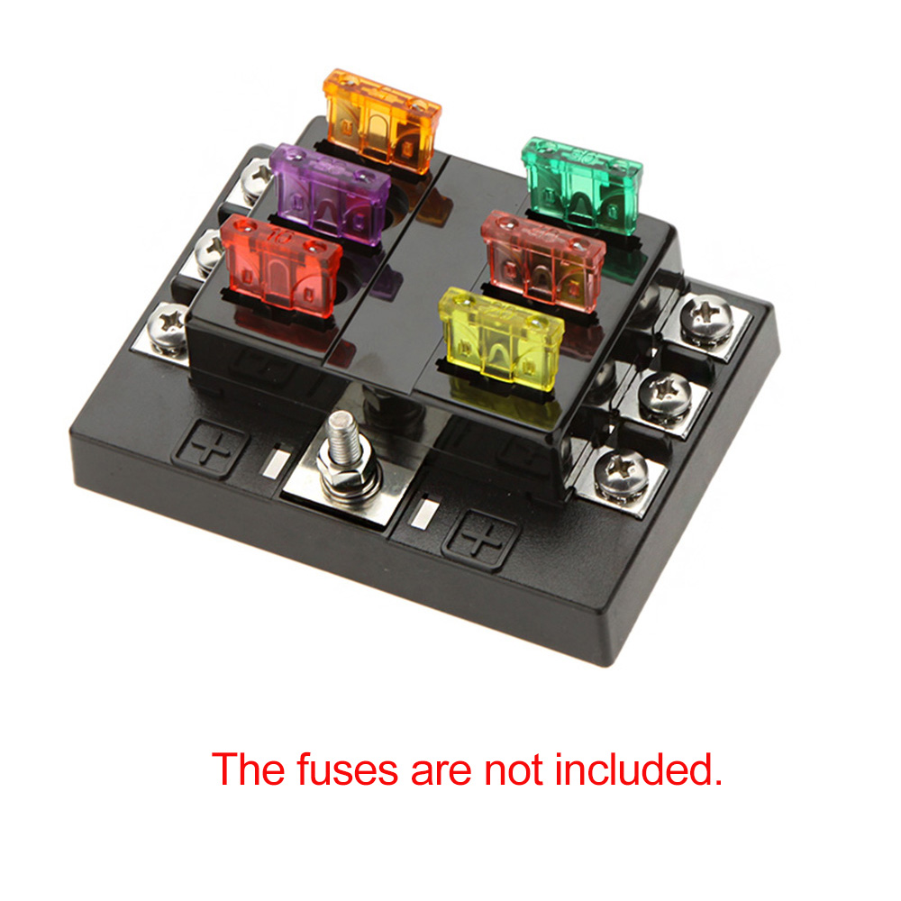 Car Fuse Box For Sale Trusted Wiring Diagrams Cars Light Source Hot 6 Way Circuit Holder 32v Dc Rocker Arm