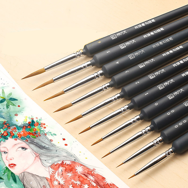 Professional Fine Hand painted Hook Line Paint Brush Set Drawing Art Pen for Art Supplies Brush Painting Pen|Paint Brushes| |  - title=
