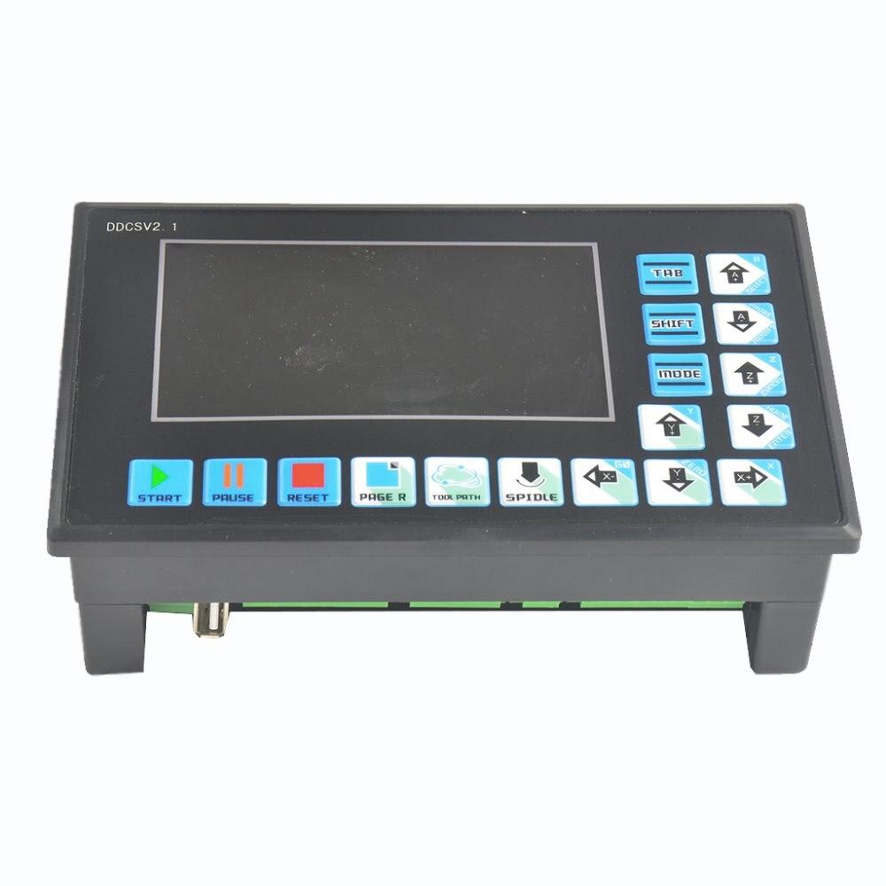 DDCSV2.1/eixo 3 motion controller/controlador de motor de passo e servo motor NC CNC máquina de gravura offline
