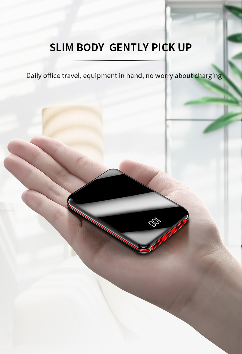 100mAh Power Bank External Battery Bank 8W Quick Charge Powerbank portable charger with Dual USB Output for Phone 2