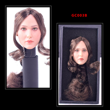 GACTOYS GC003 Jennifer Lawrence Type B 1/6 Scale Female Planted Hair Head Sculpt Carving Braided ponytai F 12 Phicen Figures