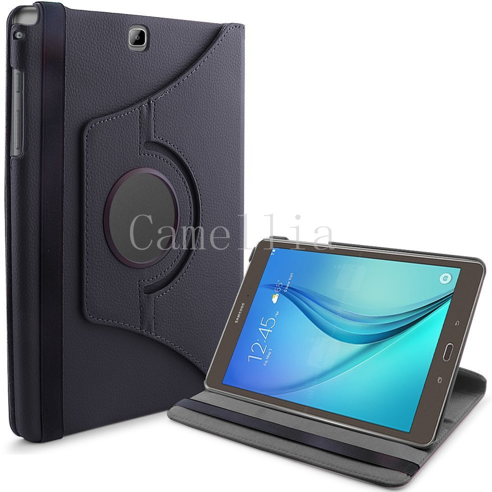 for samsung galaxy tab a 9 7 pu leather 360 rotating stand. Black Bedroom Furniture Sets. Home Design Ideas