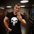 Men's Skull t shirt Printed Casual Fit TShirt Clothing Bodybuilding Stringer Top Fitness Cotton Short sleeve Hot
