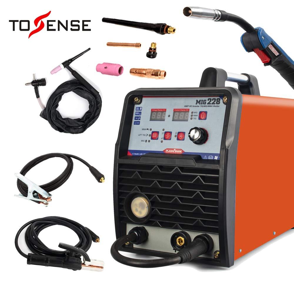 Soudeuse MIG/TIG/MMA 3 in1 soudeuse 110/220 V DC 200Amp onduleur IGBT affichage numérique fil fourré fil solide soudeuse