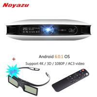 Noyazu DLP Projector Mini LED 3D Android Beamer Full HD 4K 1080P Business Portable Projetor Smart Home Cinema with 3D Glasses