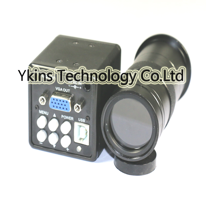 Free shipping 2 in 1 USB VGA outputs CCD CMOS Industrial microscope Camera+130X or 180X C-Mount lens smartphone repairFree shipping 2 in 1 USB VGA outputs CCD CMOS Industrial microscope Camera+130X or 180X C-Mount lens smartphone repair