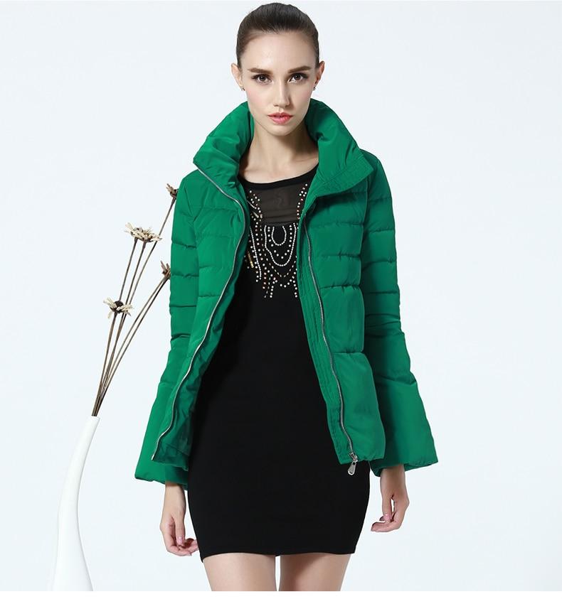 Stand Mode Femmes Vestes Green Nouvelle Cape Féminin Col D'hiver Parka Chaud C888 Slim Flare Manteau Veste Vert Manches Style Pk8n0OXw