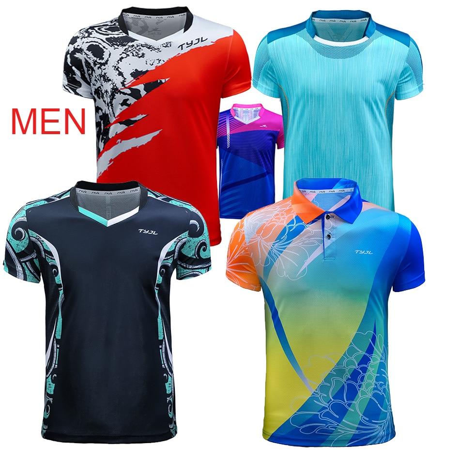 2019 New Men/'s Tops badminton Clothes tennis T-shirt+shorts Logo Print