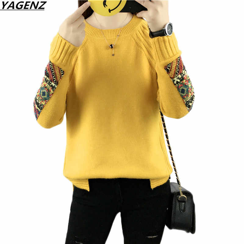 2019 NEW Sweater Women Fashion Autumn Winter Knitted Warm Round Neck Pullover Women Sweater High Quality Student Casual Tops
