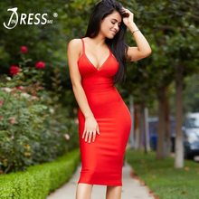 IINDRESSME Sexy Spaghetti Strap V Neck Women Bandage Dress Midi For Fashion Women Party Dress Vestidos Christmas Gift 2018 New
