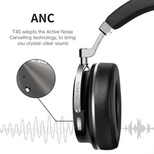Bluedio T4S Active Noise Cancelling Bluetooth Headphones with Microphone