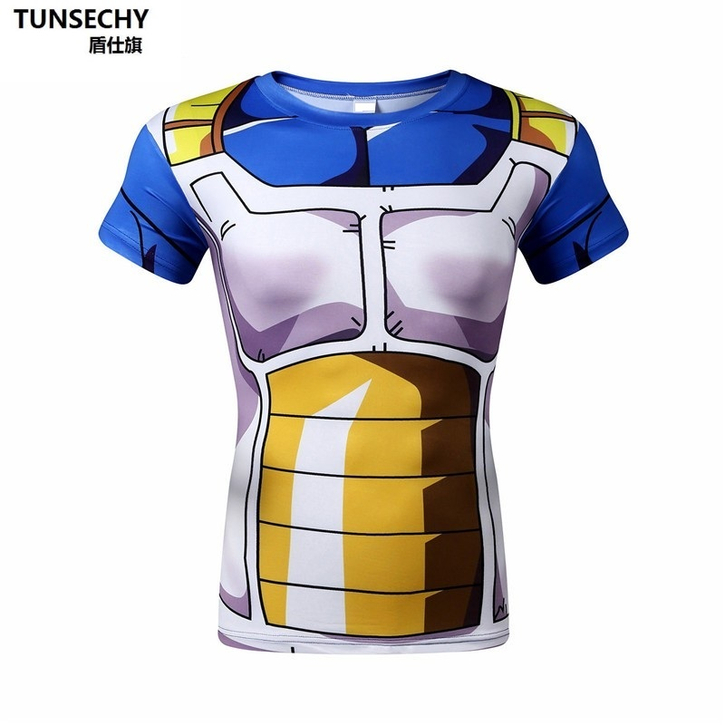 Bejieta armor 3D printing Dragon Ball Z T-shirt voor Mannen Dragon Ball Vegeta Goku Super Saiyan Fitness T-shirt  cartoon