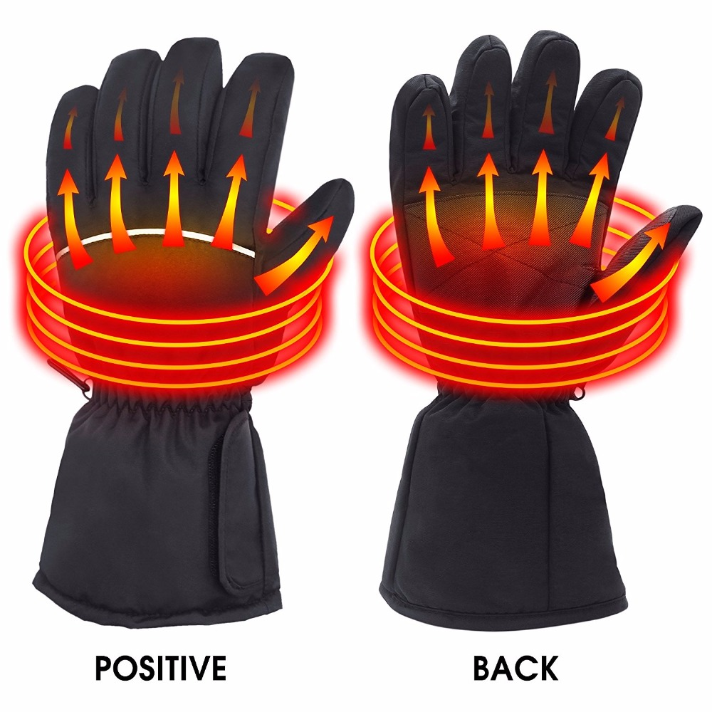 SVPRO Waterproof Electric Heated Gloves Battery Power Winter Hiking Skiing Cycling Warm Heated Gloves For Motorcycle Hunting