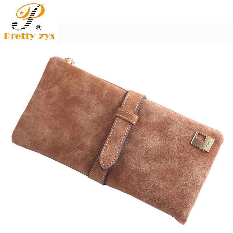 Womens Clutch Designer Wallets Famous Brand Women Wallet 2017 Nubuck Leather Belt Ladies Portfolio Female Vintage