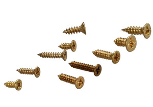 Image 4 - new 500 Piece Brass Plated Wood Screw Assortment self tapping screws teeth mouth fast Muhe small metal screws