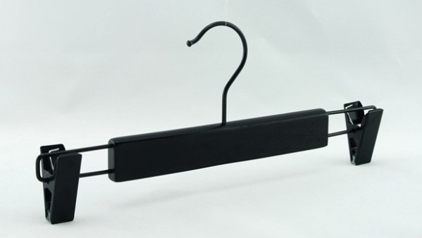 Free Shipping Black Wooden Hanger with Clips for Bottom 34 cm Length 20 pieces lot