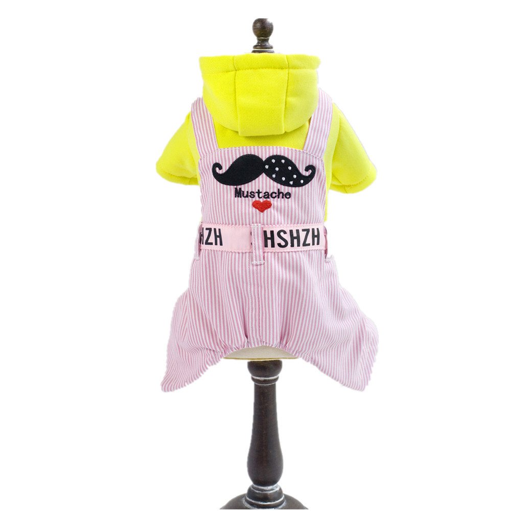Lovely Small Dogs Costume Clothes For Little Dogs Overalls Cute Dog Cartoon Clothes Small Pet Mustache Jumpsuit