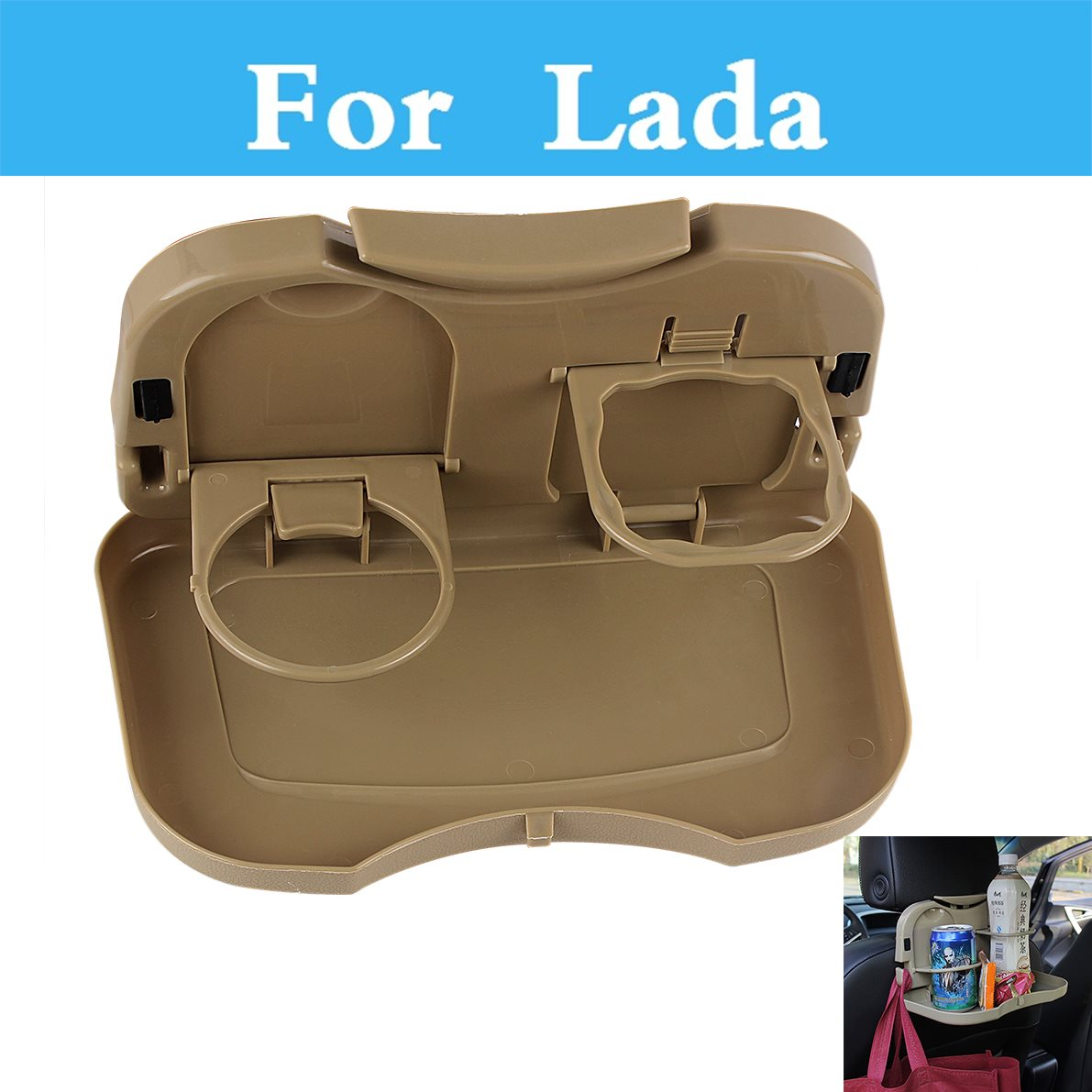 New Double Car Cup Holder Drinks Holders Car Accessories For <font><b>Lada</b></font> 1111 Oka 2105 2106 2107 <font><b>2109</b></font> 2110 2112 2113 2114 2115 image