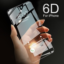 6D 9H Tempered Glass Front Phone Case For iPhone X 7 8 Plus Screen Protector Film Cover For iPhone 11 Pro Max XR X XS Max 6 6s цены