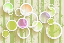 Laeacco Trees Circle Pattern Flowers Spring Baby Child Photography Background Customized Photographic Backdrops For Photo Studio