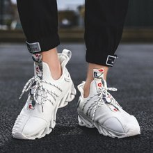 2019 Fashion High Top chunky Sneakers embroidery Hip Hop Street fly weave sneaker trainer tenis masculino Cool Shoes