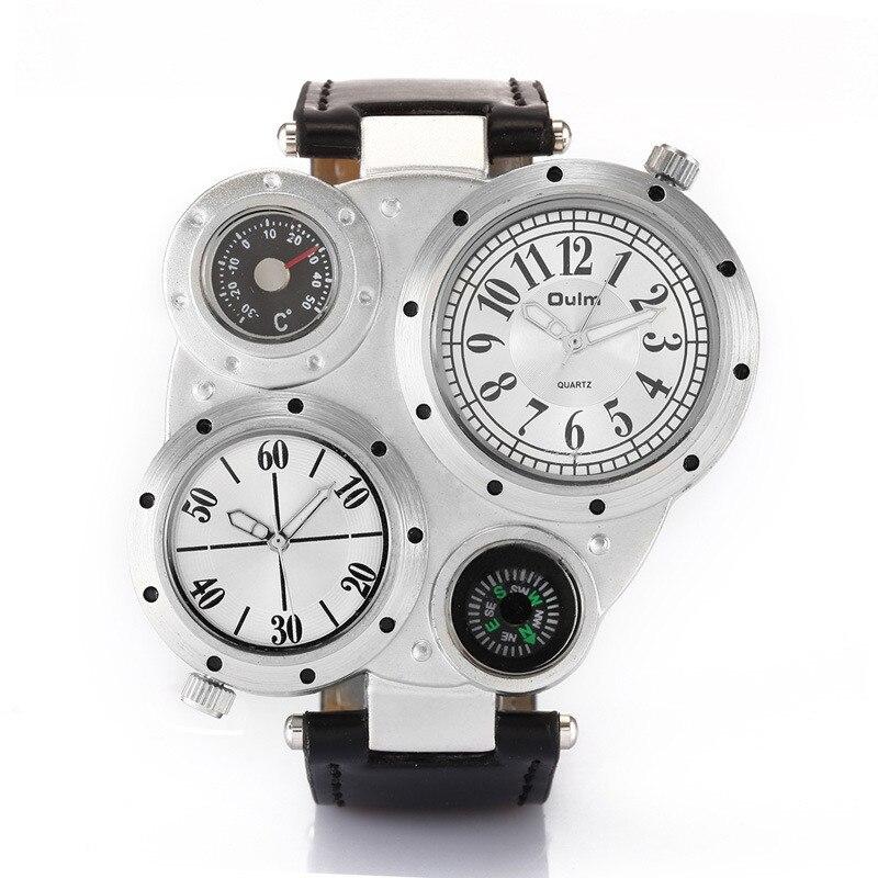 OULM 9415 Moda Relojes de Cuarzo Hombres Marca Original Cara Grande - Relojes para hombres - foto 2