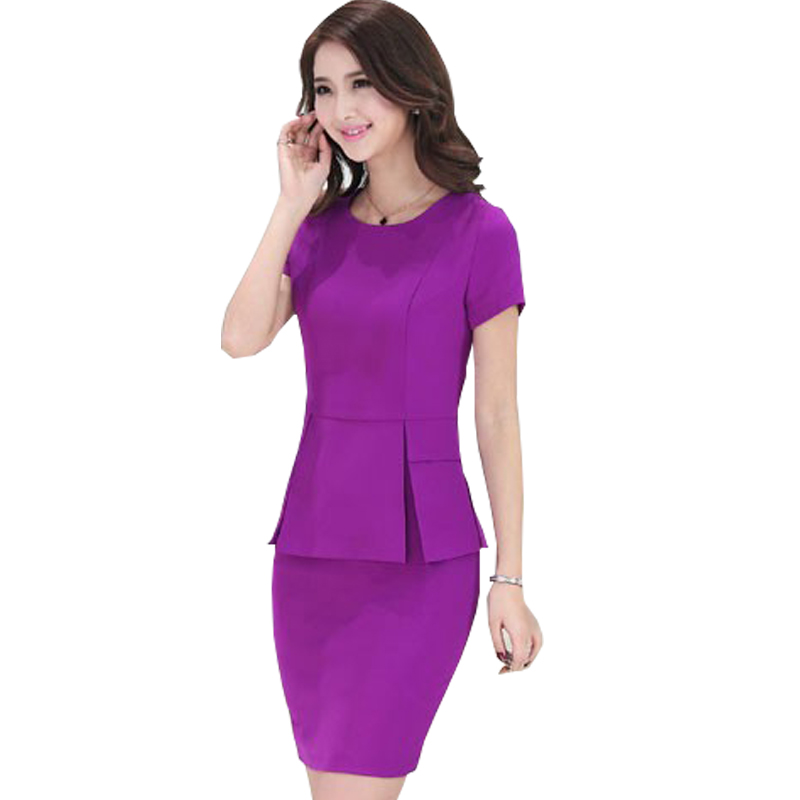 New Business attire 2016 Autumn and Winter Hot women's work wear uniform Solid Color Slim career Skirt set Free shipping