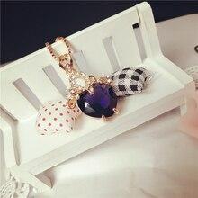 808 магазин модное ожерелье s подвески в форме сердца аметист розовое золото ожерелье для женщин очаровательные свадебные вечерние ювелирные изделия