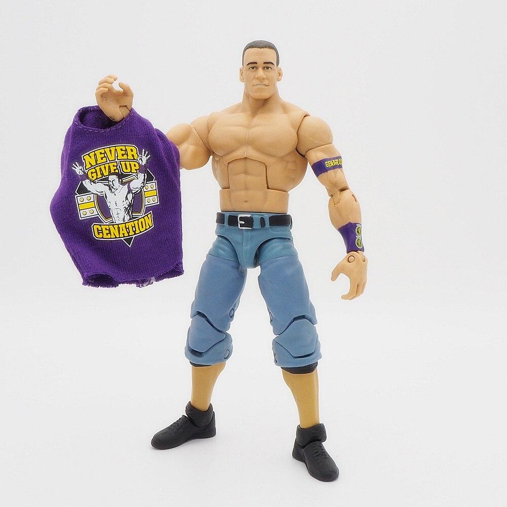 Wrestling gladiators Action figures Wrestler Building Blocks Super Heroes Kids Gift Toys John Cena Elite Purple Tee