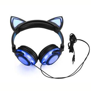 Image 2 - JINSERTA 2020 наушники для кошек, светодиодные наушники для кошек, светящиеся наушники, игровые наушники для взрослых и детей