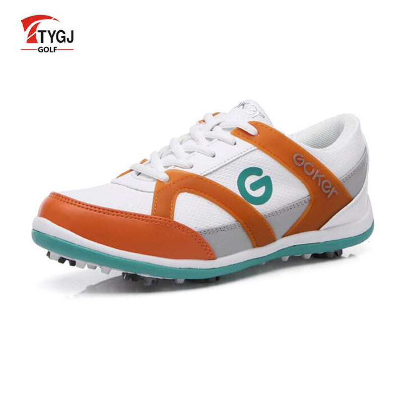 TTYGJ Golf Shoes Women Waterproof Leather Shoes Zapatos De Mujer Sneakers On a Platform Golf Hombre Free Shipping mens women golf shoes genuine leather shoes british style waterproof breathable free shipping