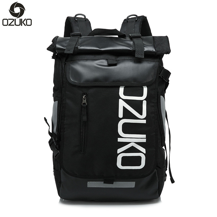 Ozuko New Oxford Cloth Backpacks Fashion Men Bag Korean Version of The Creative Big Capacity Shoulder Travel BagOzuko New Oxford Cloth Backpacks Fashion Men Bag Korean Version of The Creative Big Capacity Shoulder Travel Bag