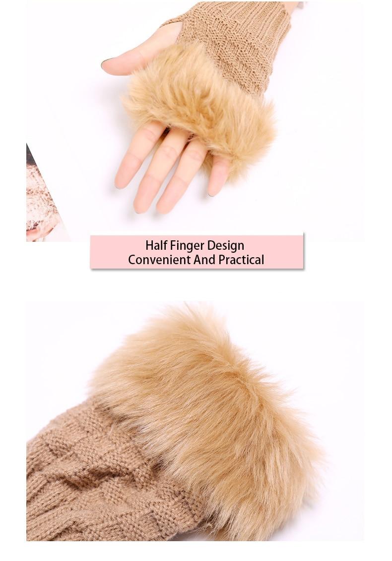 Winter Knitted Gloves New Wrist Trim Gloves 8