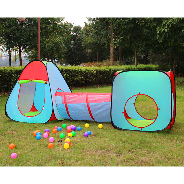 YARD 3 Pieces/Set Play Tent ChildrenTunnel Kids Toy Tents Castle Tent with Baby Crawl  sc 1 st  AliExpress.com & YARD 3 Pieces/Set Play Tent ChildrenTunnel Kids Toy Tents Castle ...