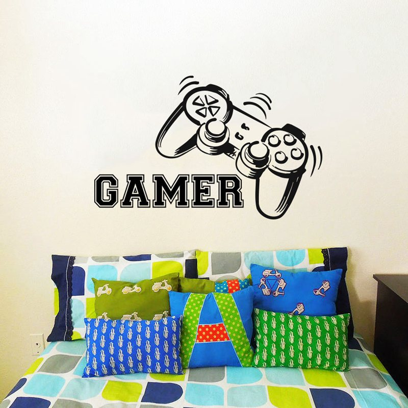 Video Game Sticker Play Decal Gaming Posters Gamer Vinyl Wall Decals Parede Decor Mural Video Game Sticker