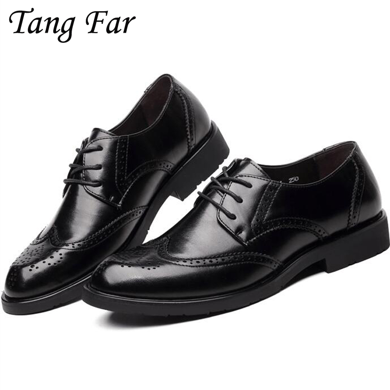 Men Shoes Big Size 46 47 48 New Men's Casual Flats Large Yards British Wedding Shoe Carved Business Zapatos Hombres цена