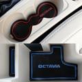 15Pcs Car Styling For Skoda octavia A7 2016 2017 Interior Latex Gate Slot Pad Anti Slip Door Mats Carp